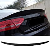 JTAccord ABS Glossy Black Auto Heckspoiler Heckklappenspoiler Heck Heckspoilerlippe Windschutzscheibe Flügel für Audi A5/S5 B8/B8.5 Sportback 2008-2016, Auto Modifikation Zubehör