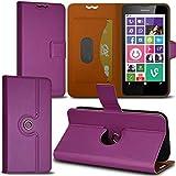 Seluxion Schutzhülle mit 360 Grad Standfunktion-S Farbe Lila für Nokia Lumia 630