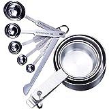 Messbecher, Messlöffel, stapelbar, Küchenmesslöffel-Set, Edelstahl, Messbecher und Löffel, 10 Stück, beste Werkzeuge für die Küche