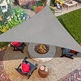 iCOVER Sonnensegel, 185 g/m² Stoff, Pergolen, Dachabdeckung, für Außenbereich, Terrasse, Rasen, Garten, Hinterhof, Markise, 33 x 33 x 48 cm, grau