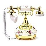 Allowevt Schnurgebundene Festnetztelefone ohne Anrufbeantworter Keramik Europäisches Telefon Desktop Klassisch Telefon für Sterne HotelKunstgalerieHauseBüroHaus Decor Classical
