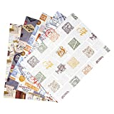 ARCA Geschenkpapier für Geschenkverpackung, 5 Bögen 100 x 70 cm, 100% Papier (A30)