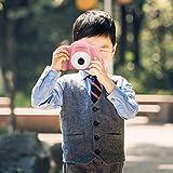 Surebuy Kid Camera Anti-Fall-Kamera 0308 Lens Mini unterstützt das Aufnehmen von Fotos, Aufnehmen von Videos und DIY-Fotos(pink, Pisa Leaning Tower Type)