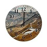 J-Clock 10 Zoll Wanduhr Nicht tickende Stille Uhren, andere Seite der Großglockner Hochalpenstraße in Österreich Uhr Wohnkultur für Wohnzimmer und Schlafzimmer