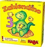 Haba 4928 - Zahlendino Dinostarkes Zahlen- und Memospiel, für 1-4 Kinder von 3-8 Jahren |Zum Zahlen und Mengen lernen, Mit Variante für 1 Kind