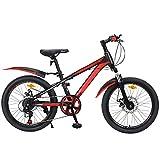 LFFME 20'Wheel Boys Mountainbike, 7-Gang, Mit Doppelscheibenbremse Und Verstellbarem Sattel (Alter 7 Bis 12 Jahre),B