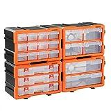 Monzana Kleinteilemagazin Sortimentskasten erweiterbar 72 Fächer Sortierbox für Kleinteile Aufbewahrungsbox Werkstatt