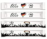 Fußball Fan-Zuckersticks | 150 Sticks x 4g | Natürlich nachhaltiger Markenzucker aus deutschem Zuckerrübenanbau | Limitierte Auflage kurze Zeit erhältlich