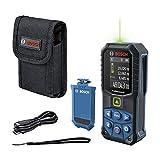 Bosch Professional Laser-Entfernungsmesser GLM 50-27 CG (grüner Laser, Reichweite: bis 50 m 3,7 V Lithium-Ionen-Akku, USB-Kabel, robust, IP65, Bluetooth-Datenübertragung, Schlaufe, Tasche)