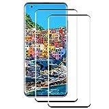 PUUDUU Panzerglas Schutzfolie für Xiaomi Mi 10/10 Pro [2 Stück][9H Härte] [Anti-Kratzer] [Bläschenfrei] Gehärtetes Glas Displayschutzfolie für Xiaomi Mi 10/10 Pro