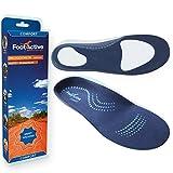 FootActive COMFORT - Original Marken Einlegesohlen - Herrlicher Laufkomfort für Füße, Beine und Rücken, speziell bei Fersensporn, Blau, 44 - 46 (L)