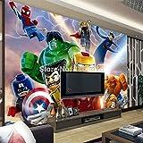 Movie Theme Wandbild: 3D Superheld Avengers Wallpaper Spider-Man Iron Man Wandbild TV Hintergrunddekoration