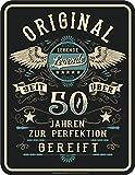 RAHMENLOS Deko Blechschild als Geschenk zum 50. Geburtstag: Lebende Legende