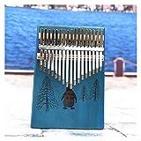 FXBXYLQ Tragbar 17 Key Thumb Piano 17 Tastatur Instrument Tuner Hammer Instrumententasche Mini Klavier Musikalisches Geschenk (Color : Penguin)