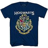 Harry Potter Hogwarts Distressed Seal Emblem Boys Youth T-Shirt(Heather Navy,XS)