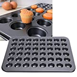 Kuchenform, 48-Gitter-Muffin-Kuchenform, Antihaft-Pfannenbeschichtung und Leicht zu Reinigende Muffinform, Multifunktionale Hitzebeständige und Gleichmäßig Beheizte Pfanne, Geeignet für die Hausbäcker