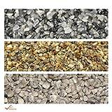 BEKATEQ Steinteppich Set 2qm aussen innen, BK-601EP Marmorkies abgerundet - 20kg Lichtgrau + 1,2kg Epox