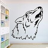 Wolf Schöner Wolf Wandtattoo Afrikanischer Wilder Löwe Stolz Tierheim Innenarchitektur Kunstbüro Wandbild Aufkleber Tapete Andere Farbe 42X43CM