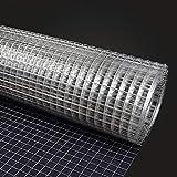 BBGS Drahtgitterzaun, Rostfreier Stahl Verzinkt Hardware-Stoff Geschweißtes Netz Hühnerdrahtzaun Käfig Bildschirmnetz - 1m Höhe (Size : 15m)