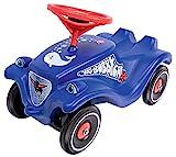 BIG-Bobby-Car Classic Ocean - Kinderfahrzeug mit Aufklebern in Ozean Design, für Jungen und Mädchen, belastbar bis zu 50 kg, Rutschfahrzeug für Kinder ab 1 Jahr, blau