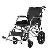 JIE. Rollstuhl - Aluminiumrollstuhl, der leichten Alten Roller-manuellen Wagen faltet Tragbarer Reise-EIN-Schritt-Falten setzte Sich leicht in Zwei Auto-Kofferraum