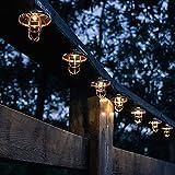 Solar Lichterkette Außen 6M 20 LED Solarlaterne Lichterkette IP65 Wasserdichte Warm Lichterkette Marokkanische Vintage Gartenleuchte für Hof Terrasse Wegbeleuchtung Deko