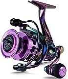 Sougayilang Spinning Angelrolle 6.0:1 Gear Ratio Graphit Rahmen 12 + 1 BB Bunte Angelrolle mit 25 lbs Carbon Drag, Super Polymer Griffe für Süßwasser oder Salzwasser Spinnen Reel-2000