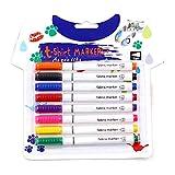 WE-WHLL 8Pcs Kleidung Textilmarker Stoff Malstifte DIY Crafts T-Shirt Pigment Malstift Schreibliner Markierungsstift