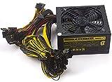 Bslemon 1800W ATX Mining Netzteil 160-260V Aktiv-PFC Schaltkreis-Netzteil für 8 GPU ETH Rig Ethernet Miner Kühler Lüfter Mining Netzteil