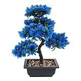 Hong Yi Fei-Shop Kunstpflanze Kreative Bonsai-Baum Künstliche Pflanzendekoration Nicht verblasst, Keine Bewässerung für Büro nach Hause, Kunststoff, 15,7'hoch kunstpflanzen (Color : H)