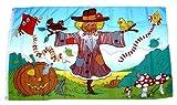 Flagge / Fahne Herbst Vogelscheuche 90 x 150 cm