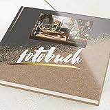 sendmoments Fotobuch zum Selbstgestalten, Kontrast, personalisiert mit eigenem Bild, quadratisches Format, 32 leere weiße Seiten oder mehr