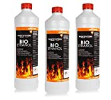 BIO ALKOHOL 100% 3 x 1Liter - BIOETHANOL für Alkohol-Kamine