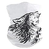 LUPINZ Zauberschal, Fischermaske, schwarz-weiß, Wolfsmaske, Hals-Sturmhaube und Sport-Schal, Stirnband, Schweißband