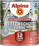 Alpina Wetterschutz-Farbe Deckend Seidenglänzend Silbergrau 0,75 L