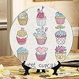 Dekorierte süße Cupcakes Dekoration Teller Display für Teller Home Wobble-Platte mit Display Stand Dekoration Haushalt Kinder Teller Keramik