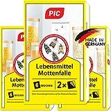 PIC Lebensmittel-Mottenfalle - Dreierpack = 6 Stück - Zum Fangen von Lebensmittelmotten in der Küche und Lagerräumen - Ideale Ergänzung beim Motten Bekämpfen