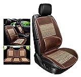 WEIWEIMITE 3 Stück Bambusmatte Für Auto-Lieferungen, Dicht Befestigte Taille Beige, Atmungsaktive Auto-Innen-Sitzbezug Kissenbelag (Color : A, Size : 3 PCS)