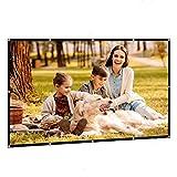 ZFFSC Beamer Faltender Projektor-Bildschirm Portable Home Outdoor KTV Office 3D HD-Projektor-Bildschirm-Projektions-Bildschirm 60/72/84/100/120 / Beamer