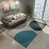 MMHJS Einrichtungsgegenstände Einfacher Europäischer Stil Großer Rechteckiger Teppich Geeignet Für Wohnzimmer Schlafzimmer 100x160