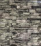 3D Tapete Wandpaneele Selbstklebend Ziegelstein Wasserdicht Wandaufkleber Tapete Wandpaneele selbstklebend Moderne Wandverkleidung in Steinoptik schnelle & leichte Montage, 10er Pack (A)