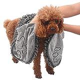 Wonnell Handtuch für Hunde,Badetuch für Haustiere Hunde Trockentuch Mikrofaser-Handtuch Super Saugfähiges Haustier Mikrofaser Handtuch Handtaschen,Zum Baden von Mittleren Und Großen Haustieren.