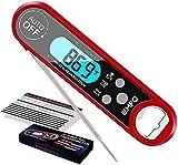 EMPO Fleischthermometer, Sofortiges Ablesen, Kochthermometer mit IP67 Wasserdicht & Hintergrundbeleuchtung LCD-Bildschirm, Digitales Lebensmittelthermometer, perfekt für Küche Kochen
