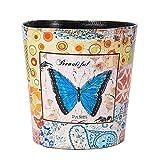 ffshop Trash can PU-Leder Eimer, Retro Dekorative Papierkorb Papierkorb Küche Mülleimer Wohnzimmer Abfallbehälter Büro Abfalleimer Schlafzimmer Papierkorb Müllbehälter (Color : C)