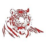 Pvc Wasserdichte Tiere Diy Wandaufkleber Tiger Liegend Wohnzimmer Abnehmbar Moderne Modische Wohnkultur 60X44Cm