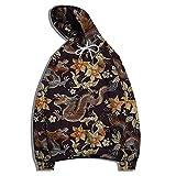 XDJSD Herren Sweatshirt Kapuzenpullover Große Herrenjacke Mode Tier Drache Printed Sweater Männer und Frauen Printed Sweater Pullover Sweater