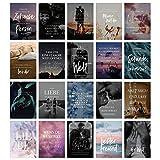 HEJ.CREATION 20 Postkarten im Set ● Postkartenset mit Bildern, Sprüchen und Zitaten zum Thema Liebe, Beziehung und Freundschaft ● Grußkartenset Love Zweisamkeit Glück Herz