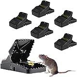 WAGLICK Mausefalle/Profi-MäUsefalle,6er-Set Große Mäusefalle ,Effizient,Schnell TöTend MäUse,Effektive Wiederverwendbar Mäusefalle in Haus G