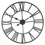 Wanduhren Wall Clocks Römische Ziffern Metall Antike Vintage Skelett Silent für Küche, Schlafzimmer, Garten, Wohnzimmer, Studie, Büro 80