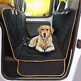 Hundedecke Auto Rückbank, Kratzfeste, rutschfeste, wasserdichte Autoschondecke Rückbank, Universal Auto Kofferraum Hundedecke - Robuste Schutzmatte für Hunde, Schwarz
